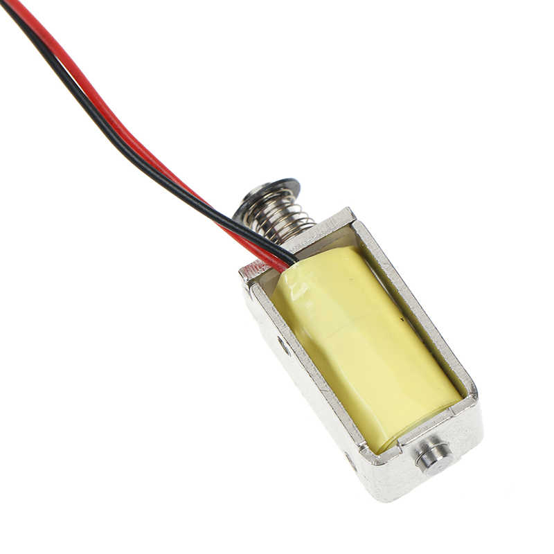 1pc 12V DC de succión Micro electroimán primavera tipo Push Pull Rod solenoide imán 4mm
