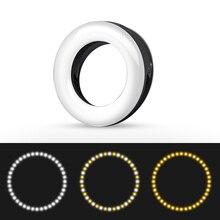 Light-Flash Ring-Lamp Fill-Light Selfie-Ring LED Mobile-Phone Tiktok Youtube Rechargeable