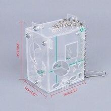 Foraging-Toy Feeder Bird Parrot Training-Cage Acrylic-Box Intelligence Creative