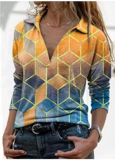Aprmhisy Graphic Shirts Women Autumn New Long Sleeve Casual Streetwear Blouse Shirt Blusas Femininas 21