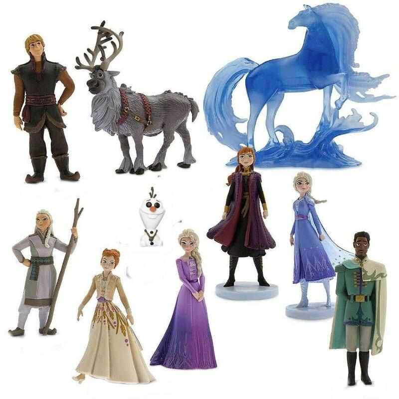 2020 HOT Disney Frozen 2 Elsa Anna Olaf Kristoff Sven Anime Dolls Figurines Snow Queen PVC Action Figure  Kids Toy Children Gift