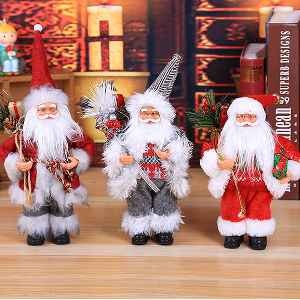 30 см Рождество сидя орнамент имитация Санта Клауса кукла старый человек маска плюшевая фигурка игрушка анимированная Подарочная