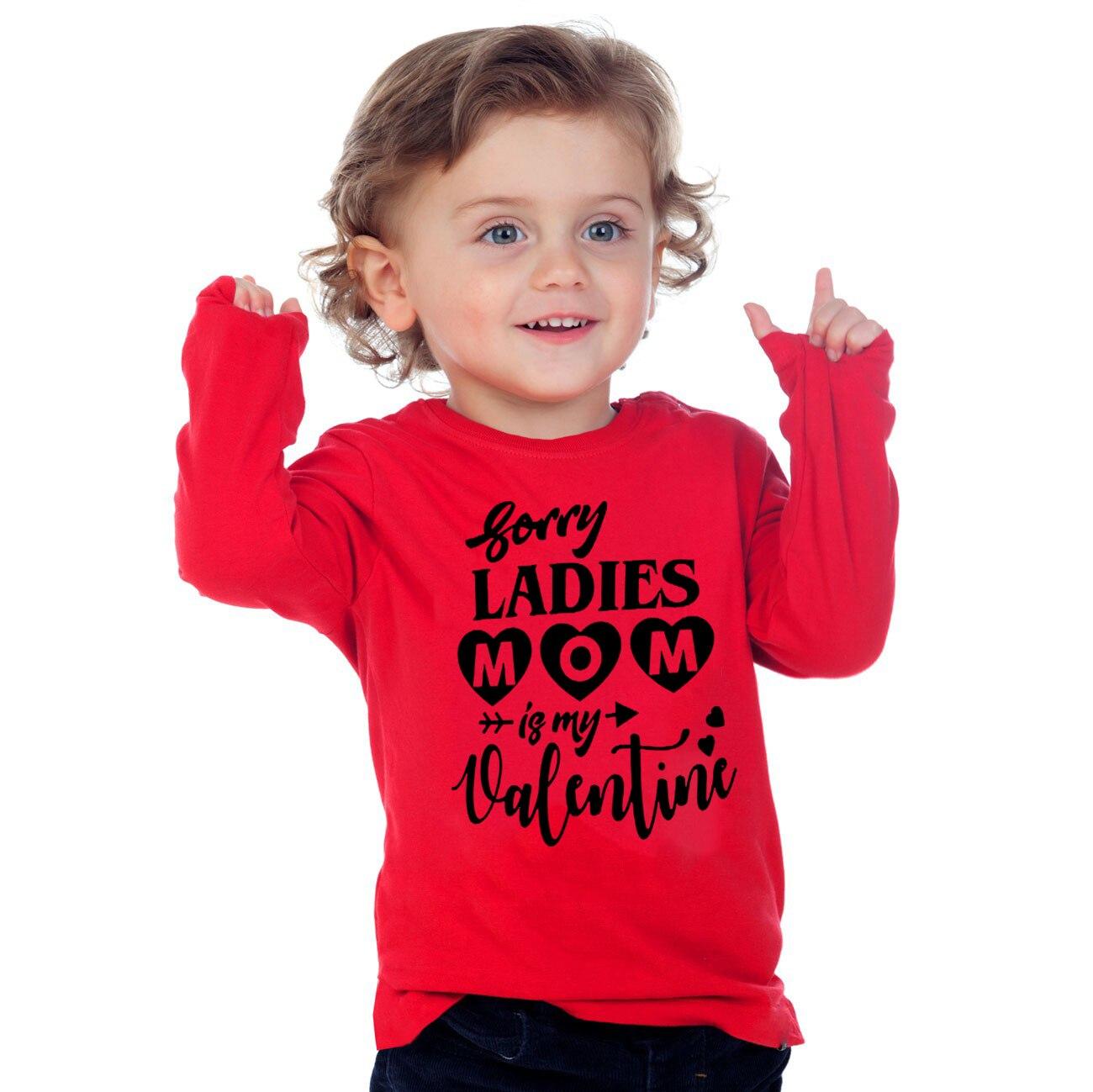 Désolé dames maman est ma saint-valentin enfants vêtements drôle enfant en bas âge garçon à manches longues vacances T-shirt enfants décontracté mode T-shirt