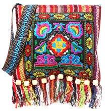 Ethnic Embroidery Tote Bag Boho Messenger Shoulder Bag Hmong Vintage Hippie Tassel Crossbody Bag Hot Storage Bag все цены
