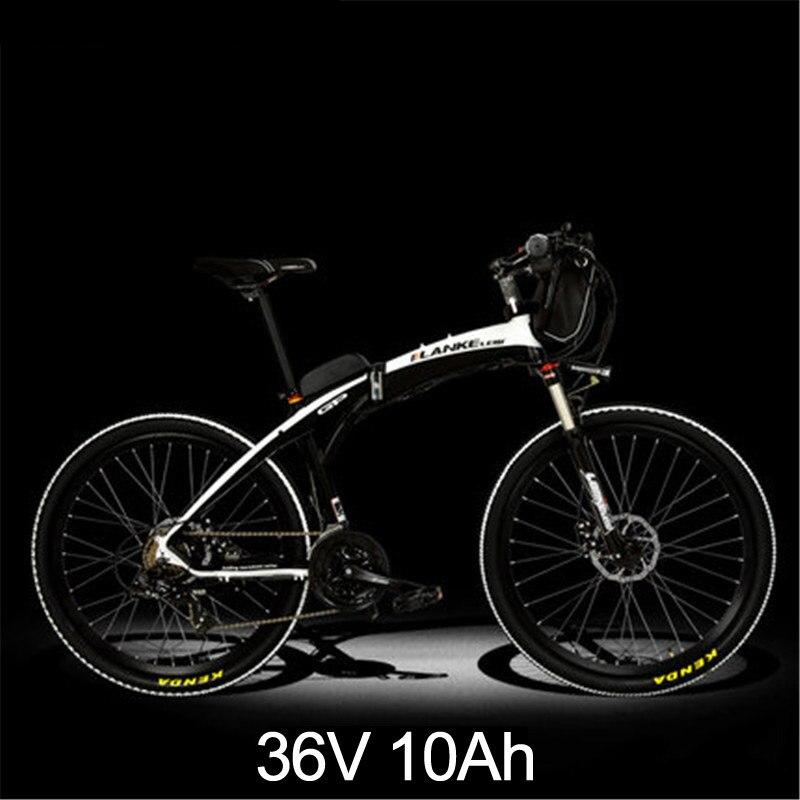 Lankeleisi 189,47 электрический велосипед, складной велосипед, 26 дюймов, 36/48 в, 240 Вт, дисковый тормоз, быстрый складной, горный - Цвет: 10th Black White