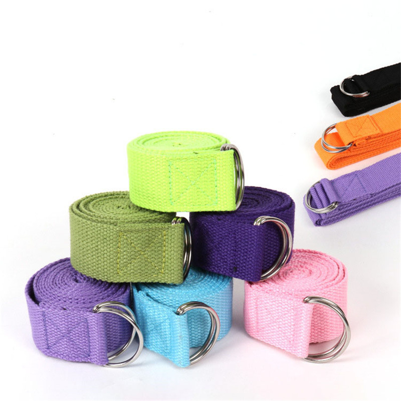 Yoga Stretch Belt Tension Polychromatic D Ring Strength Training Exercise For Women/Men Stretching Resistance Stretch Strap