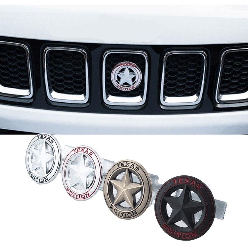 Для Jeep Wrangler tj jk jl Grand Cherokee Commander Renegade Liberty Compass СПЛАВ передняя решетка багажника боковая эмблема наклейка