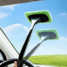 2 uds. De cepillos de microfibra para ventana de coche, desmontable, fácil de limpiar, toalla, almohadilla de tela, accesorios de coche, cepillo automático