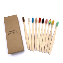 10PCS Biodegradable Bamboo Toothbrush Teeth Colorful Bristle Natural Bamboo Tooth brush Dental Eco Bambou Toothbrushes