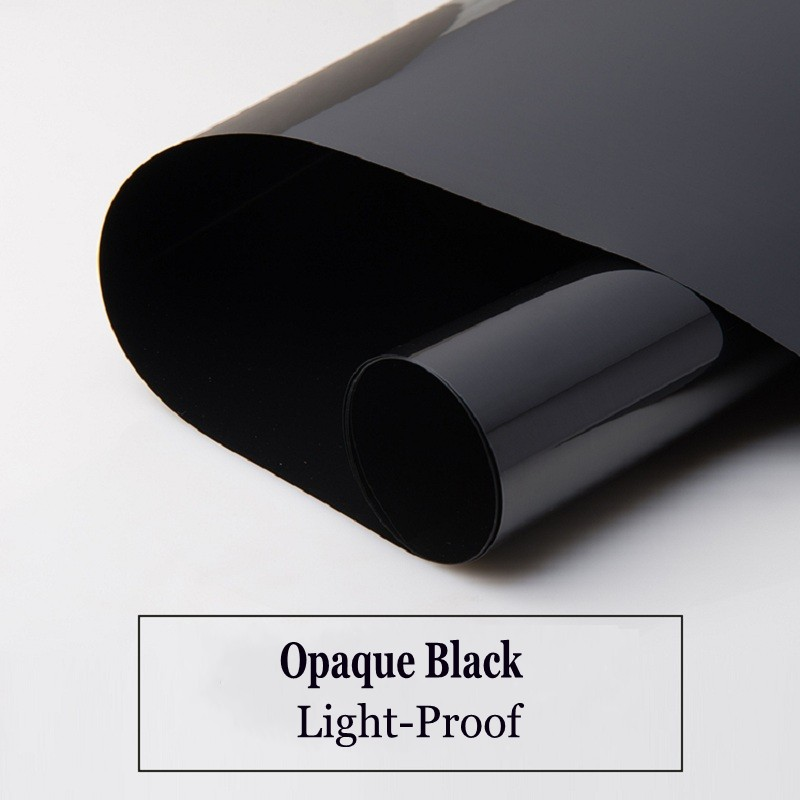 Black Sunscreen Glass Film Self-Adhesive Vinyl Light-Blocking Decals UV-Prevention Privacy Protection Drop-Shipping Window Cover