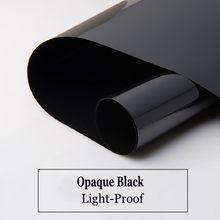 Película de vidro protetora solar preto, auto-adesivo, vinil, bloqueio de luz, decalques de prevenção uv, proteção de privacidade, drop-shipping capa da janela