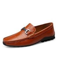 Новинка; Мужская обувь; кожаные повседневные лоферы на плоской подошве; мужские мокасины; Мужская обувь без шнуровки; кожаная легкая обувь д...