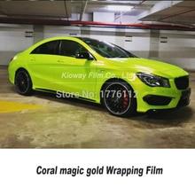 Höchste qualität vinyl wrap rollen Candy Gelb Chrom Säure Kalk wrapping film car wrapping Mehrere farben air release 5m/10m/18m