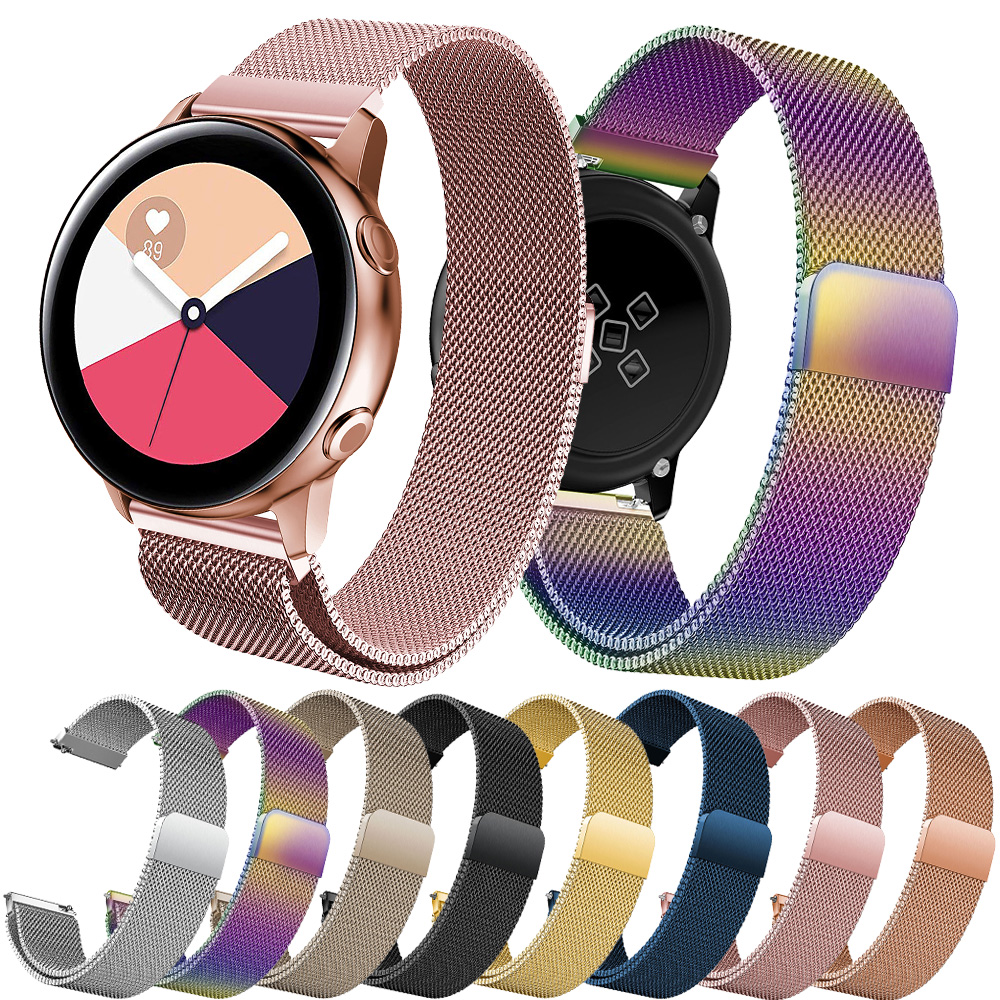 20mm 22mm Milanese Strap For Samsung Galaxy Watch 46mm 42mm Gear S3 Frontier Huawei Watch Gt 2 Active 2 Amazfit Bip Band
