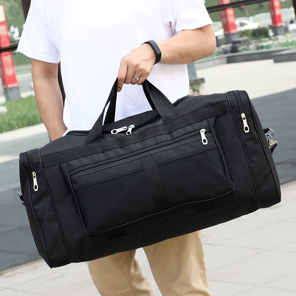 Gym Bag Nylon Hand Duffel Sports Bags Big Men Training Tas For Shoes Fitness Yoga Travel Luggage Shoulder Black Sac De Sport