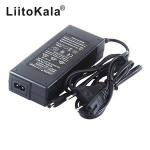 Image 3 - HK Liitokala 54.6V 2A Charger 13S 48V Li ion Battery Charger Output DC 5.5*2.1MM 54.6V Lithium polymer battery Charger