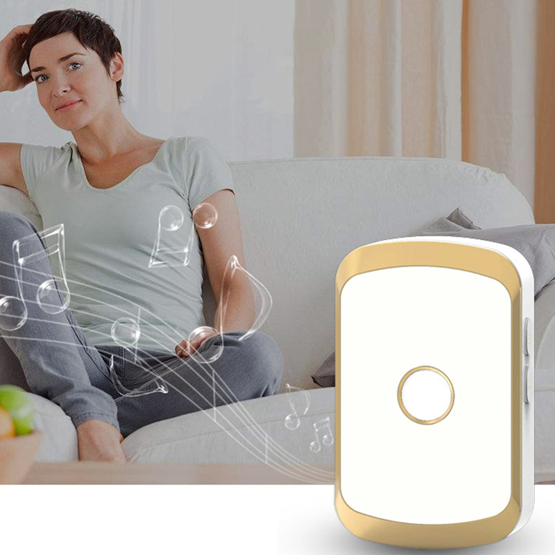 Wireless Waterproof Doorbell 300M Remote LED Flash Home Cordless Door Bell Chime 1 Button 1 2 Receiver UK Plug