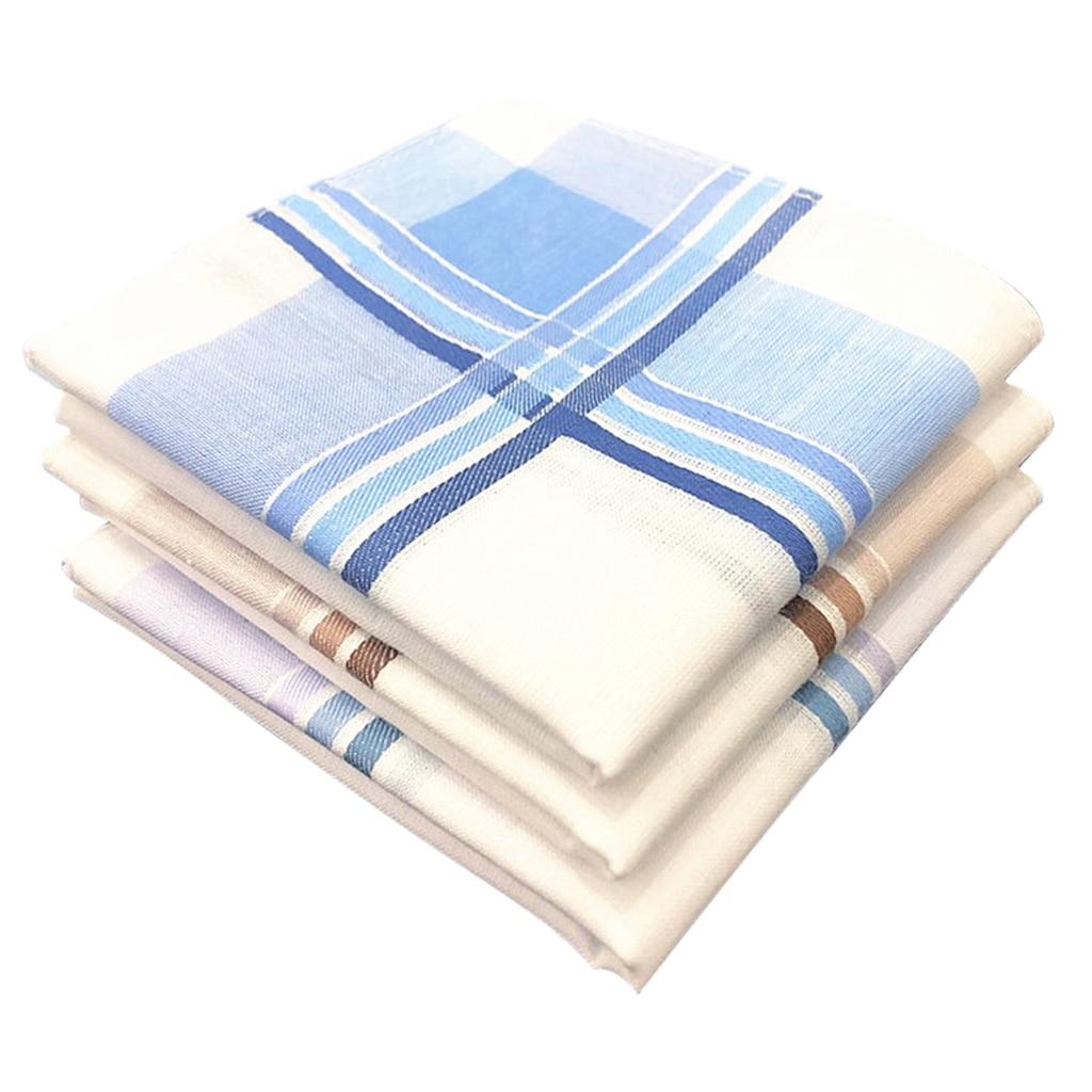 12pcs Men's Vintage Plaid Handkerchiefs 100% Cotton Pocket Square Gift Set