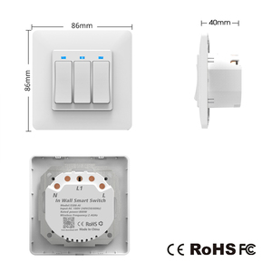Image 5 - AVATTO Tuya Wifi Light Switch with wall socket, Smart Life APP Control, Smart Wall Switch 1/2/3 Gang Work with Alexa,Google Home