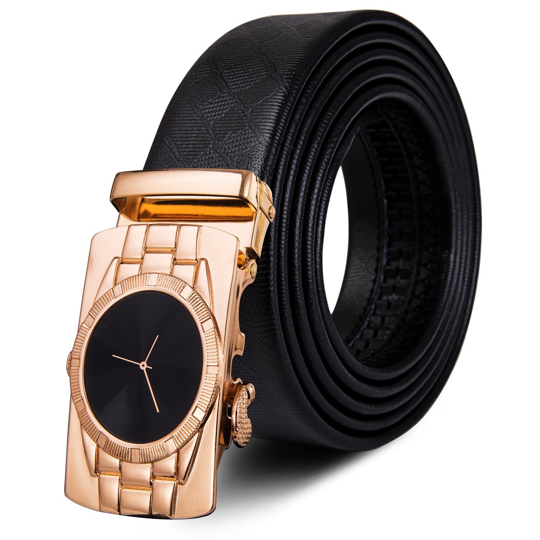 Designer Mens Belts Gold Blue Hollow Buckle Black Leather Ratchet Strap With Box