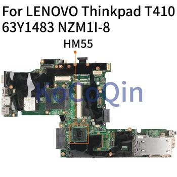 KoCoQin laptop Motherboard For LENOVO Thinkpad T410 63Y1483 NZM1I-8 Mainboard HM55