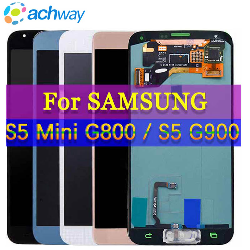 100% Tested For Samsung s5 lcd SM-G900 SM-G900F G900 With Touch Screen Digitizer Assembly for Samsung Galaxy S5 Mini G800 G800F