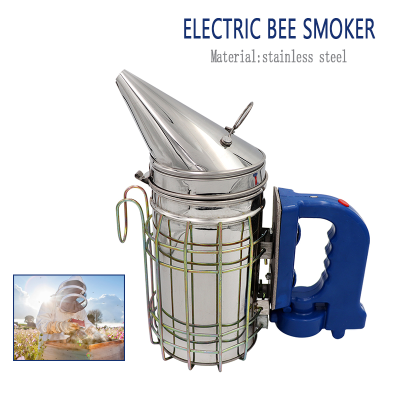 Stainless Steel Electric Bee Smoke Transmitter Kit Electric Beekeeping Tool Apiculture Beekeep Tools Bee Smoker