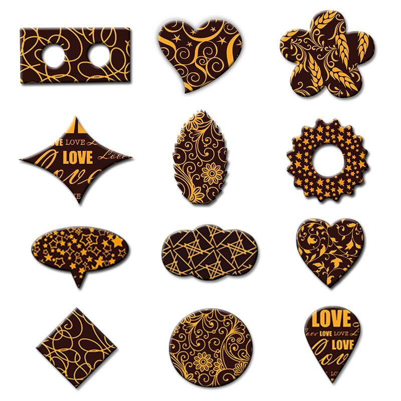 Chocolate Transfer Sheet Papel De Comestible Decoration Edible Paper A4 Size Baking Tool DIY West Cake Different Design Mix Mold