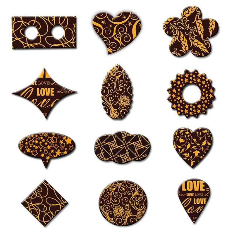 Chocolat Moule Design Feuille Chocolat Transfert À faire soi-même chocolat imprimé Cookie