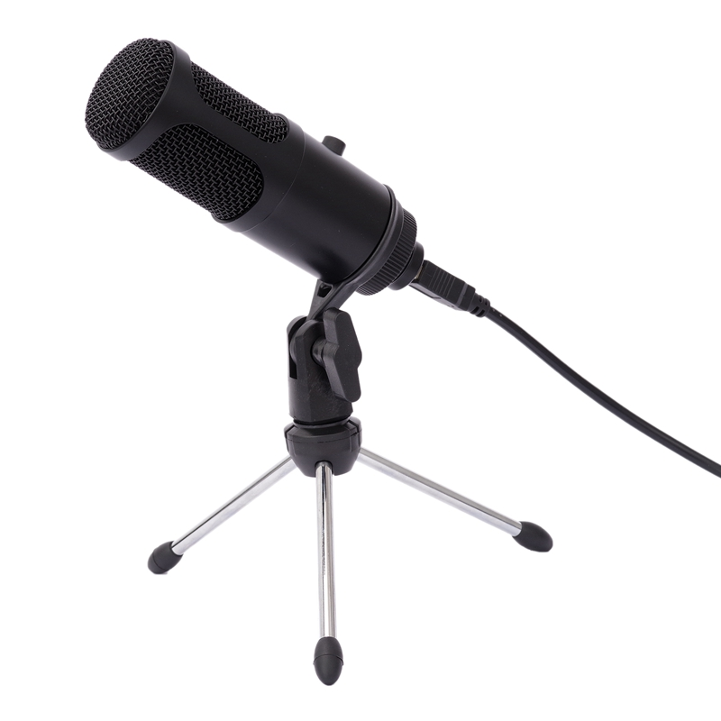 Professional USB <font><b>Capacitor</b></font> Microphone Computer Recording Microphone with Volume Adjusting Microphone for <font><b>PC</b></font> Notebook Computer image