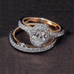 Женское кольцо из розового золота с топазом, 14 к
