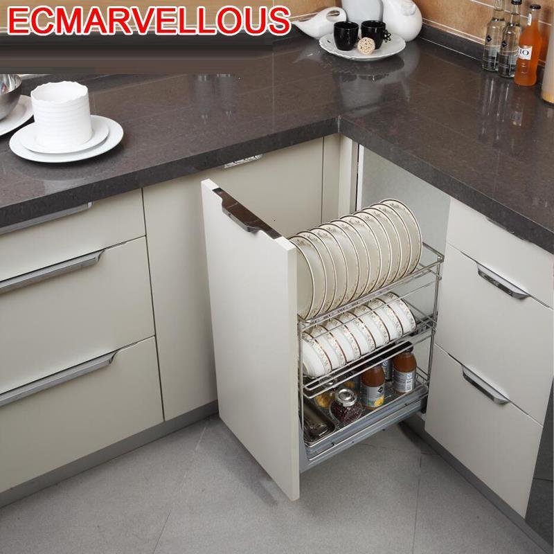 Permalink to De Despensa Accesorios Organizar Para Armario Pantry Mutfak Stainless Steel Cocina Organizer Rack Kitchen Cabinet Storage Basket