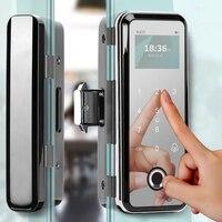Smart Glass Door Lock Office Keyless Electronic Fingerprint Lock