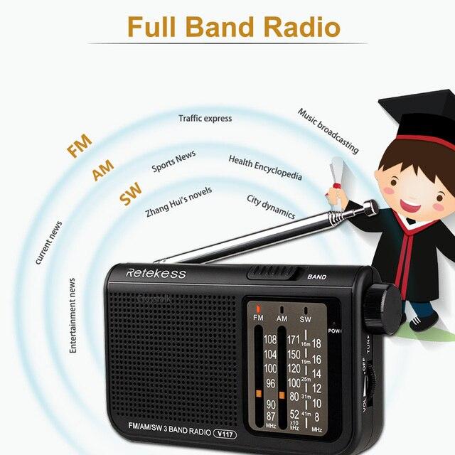 Аналоговый AM/FM-радиоприемник Retekess V117