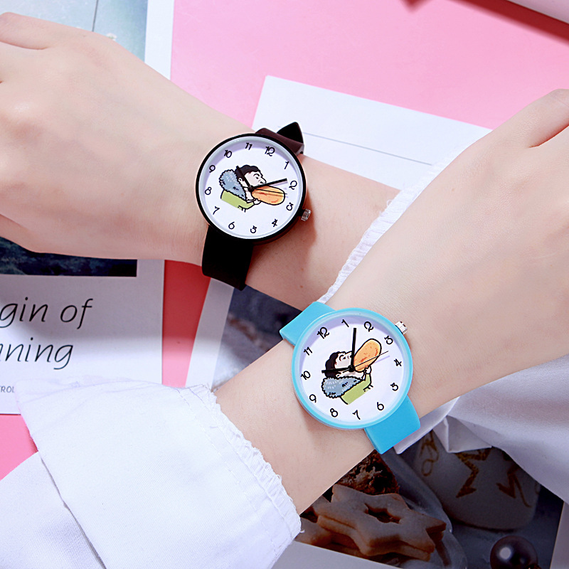 For Student Couple Watch For Duck Children's Wrist Watch Safety Silicone Clock Baby Kids Hour Fashion Young Boy Girl XX3100 Top