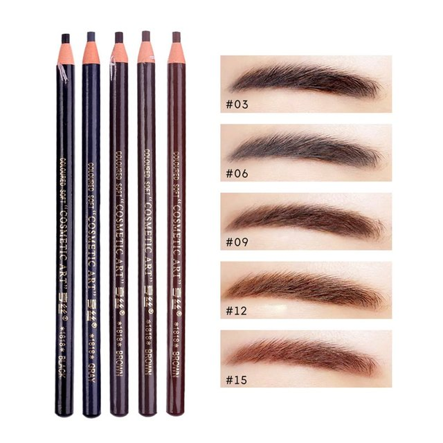 5 colors Eyebrow Pencil With Tearing Thread Long-lasting Natural Brow Pencil Cosmetics Brow Eye Liner Make Up Tool 3
