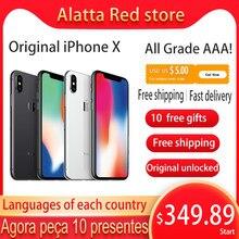 Oryginalna oryginalna Apple iPhone X używana odblokowana wersja globalna 5.8 calowy telefon komórkowy 64gb/256GB iphonex Smartphone A11 hexa-core