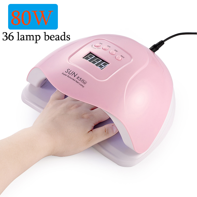 NEW 80W/48W/45W UV Lamp For Nails Ice Lamp SUN X5Plus Curing All Gel Polilsh 36LEDs SUN Light Fast Drying All UV Gel Polish Lamp image