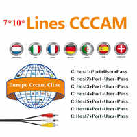 CCCAM Europe Cline 7 lines 1 year For Spain uk french Germany Netherland Polsat for Satellte receiver decoder CCCAM
