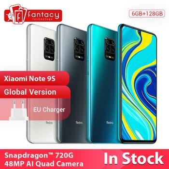 Version+mondiale+en+Stock+Xiaomi+Redmi+Note+9+S+6GB+128GB+48MP+AI+Quad+cam%C3%A9ra+Snapdragon+720G+Octa+Core+Note+9+S+5020mAh+QC+3.0
