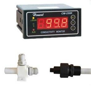 Conductimètre en ligne industriel CM-230K LED 0-9999us 4-20mA dispositif d'alarme de sortie