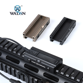 WADSN Tactical CNC Pocket Panel for SF Flashlight Pressure Pad Hunting Scout Light Switch Rat Tail Slot Fit 20mm Picatinny Rail