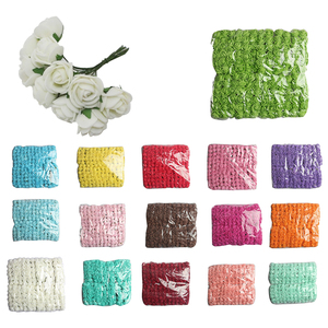 144pcs 2CM PE Rose Foam Mini Flower Bouquet Solid Color/wedding decoration