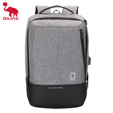 Oiwas Mens Backpack 15.6 inch Laptop Fashion Waterproof Bag with USB Charging For Travel Business Bagpack Schoolbag Daypack