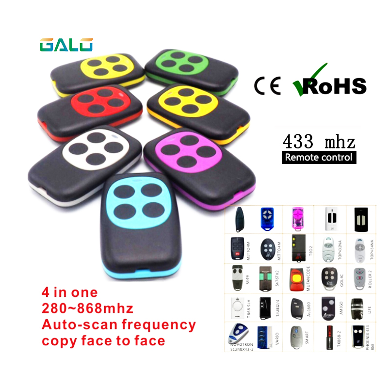 Ultralight Wireless 433Mhz Remote Control Copy Code Remote 4 Channel Electric Cloning Gate Garage Door Auto For Chipset PT2262
