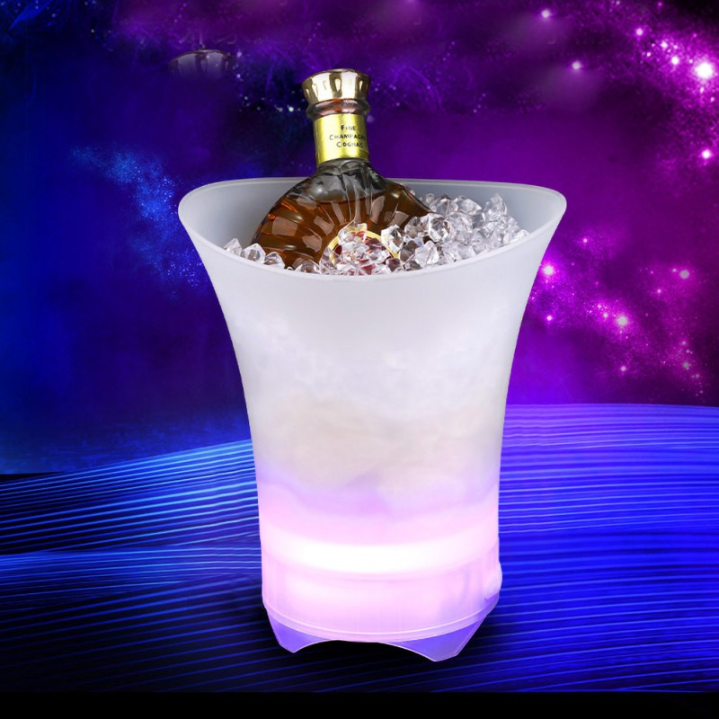 LED Bluetooth Speaker Ice Bucket Luminous FM Radio Speaker MP3 Player for Iphone Android Bluetooth Speaker Family Wedding Party|Portable Speakers| |  - title=