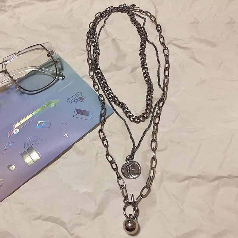 3 sztuk/zestaw naszyjnik łańcuch w stylu hip-hop mężczyźni kobiety para naszyjniki wodoodporna Link Curb naszyjnik łańcuszkowy biżuteria punkowa wisiorek szyi koronki