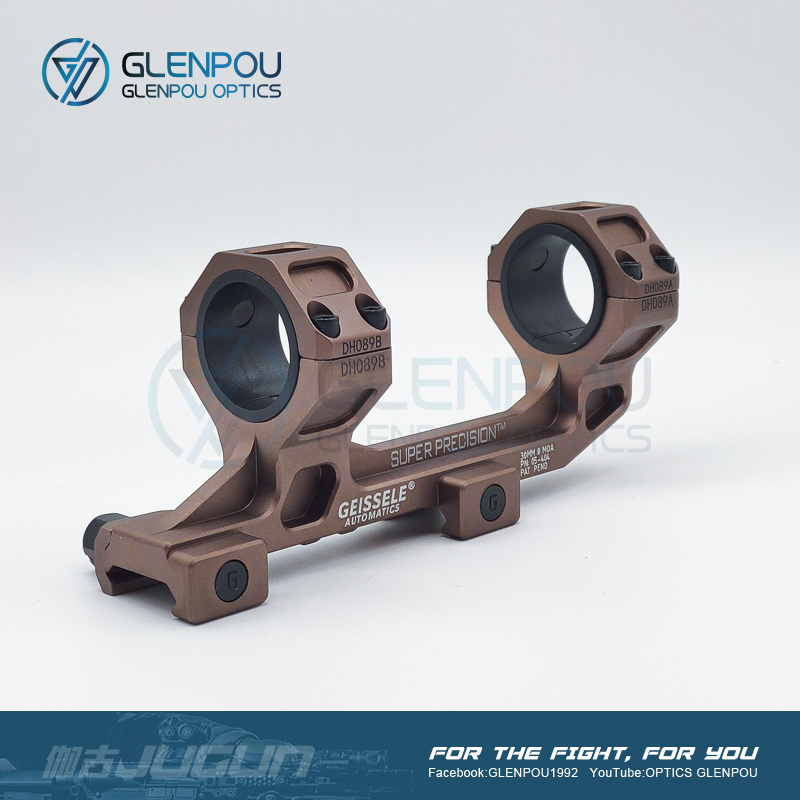 GLENPOU GEISSELE GE Mount Cantilever Rifle Scope Mount 25mm 30mm Tube W/Bubble Level QD 20mm Weaver Base Airsoft & Hunting Scope