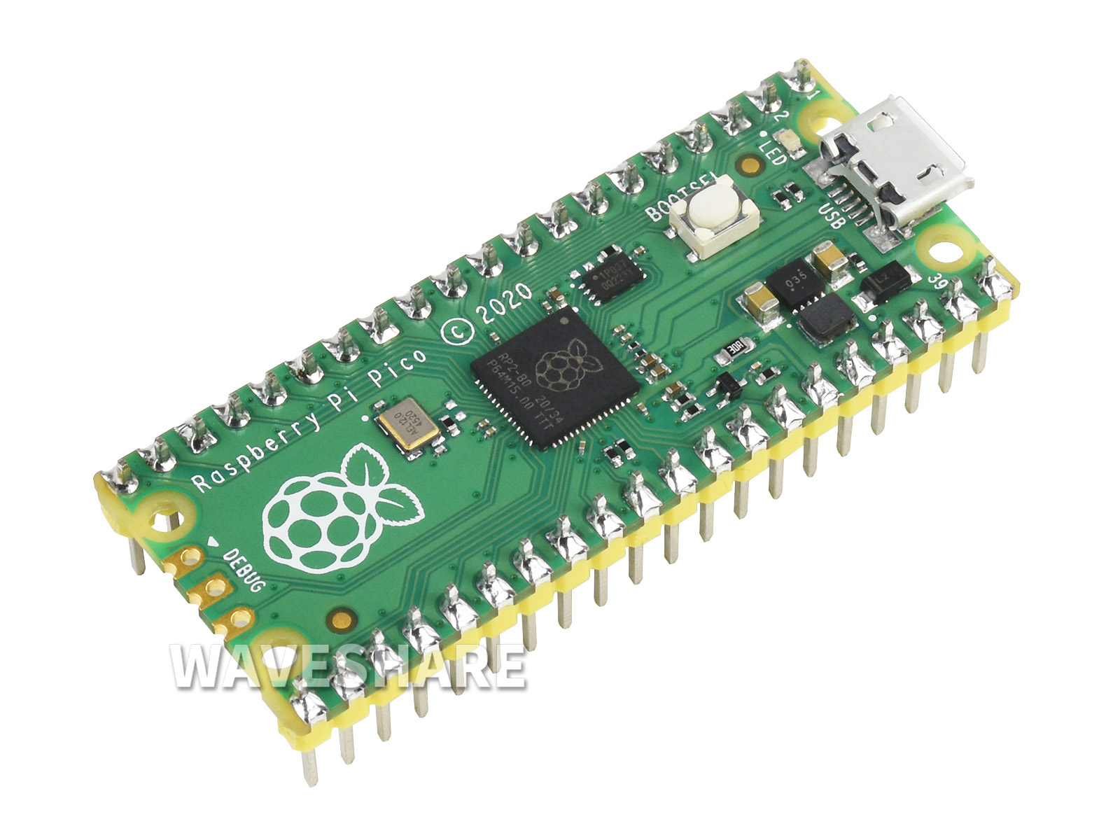 with Starter-Kit 5 Items Waveshare Raspberry Pi Pico A Low-Cost High-Performance Microcontroller Board with Flexible Digital Interfaces Incorporates RP2040 Microcontroller Chip