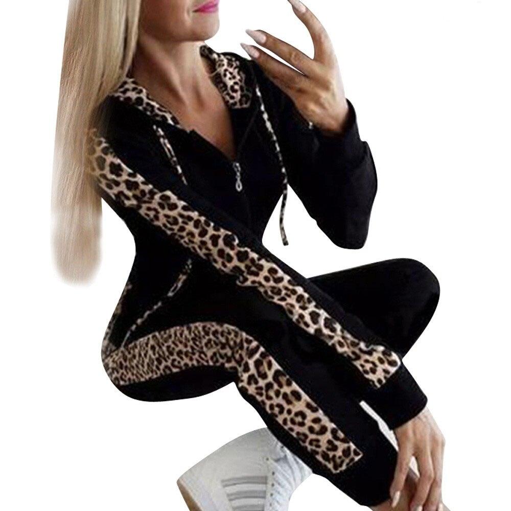 2 Pcs Women Hoodies Set Zipper Velvet Hoodies Female Casual Sweatshirts Top Long Pants Winter Autumn Sports Training Suit